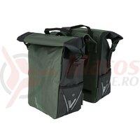 Geanta portbagaj XLC V-light Rolltop verde