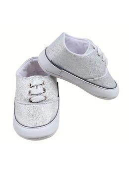 Adidasi cu sclipici model alb
