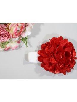 Bentita 0-12 luni floare mare rosu