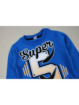 Bluzita vatuita Super albastru