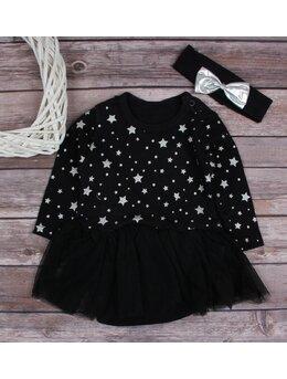 Body rochita negru cu stelute