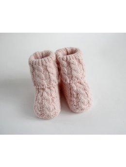 Botosei crosetati roz 0-3 luni