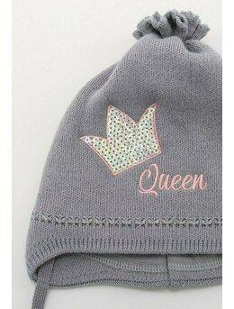 Caciulita fetite Queen dark grey