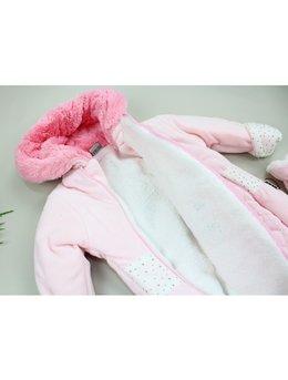 Combinezon catifea iepuras roz