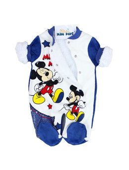 Combinezon catifea Mickey bleumarin
