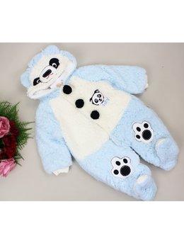 Combinezon cocolino panda bleu