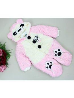 Combinezon cocolino panda roz
