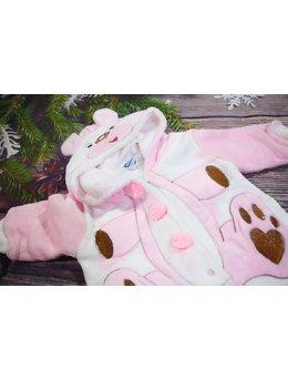 Combinezon gros ursulet roz