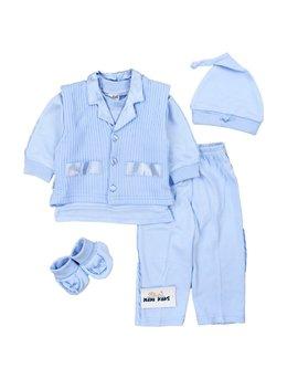 Compleu baby blue 3-6 luni B1912