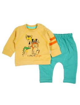 Compleu baby jungle galben-verde