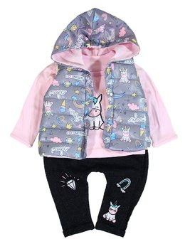 Compleu fetita fashion gri