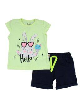 Compleu Hello rabbit verde