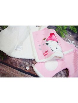 Compleu polar bear roz