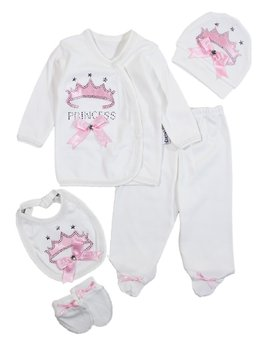Copy name: Costumas 5 piese coronita roz