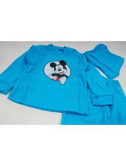 Costum 3 piese Mickey turcoaz