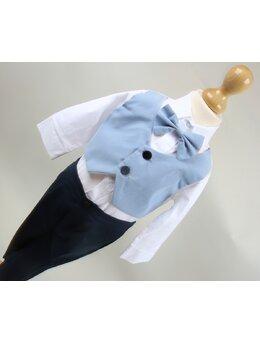 Costum baietei botez bleu