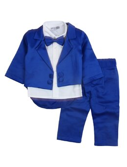 Costum print model albastru