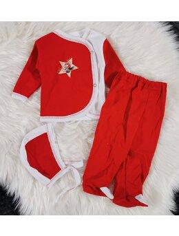 Costumas 3 piese zibin rosu