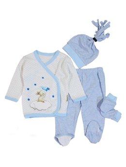 Costumas 4 piese iepuras bleu