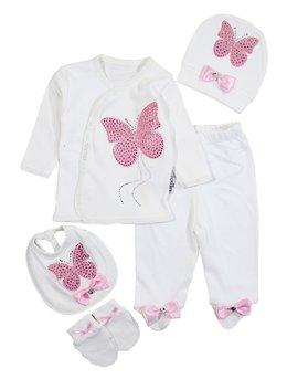 Costumas 5 piese fluture roz