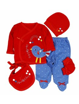 Costumas 5 piese rosu bird