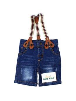 Pantaloni scurti cu bretele 3-24 luni B1537