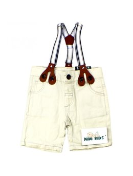 Pantaloni scurti cu bretele 3-24 luni B1557