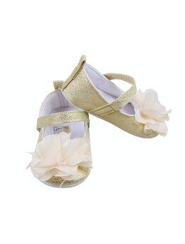 Pantofiori cu floricica model crem
