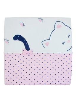 Patura bumbac pisicuta roz
