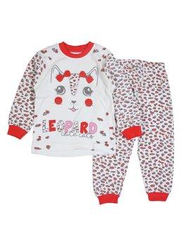Pijama leopard coral