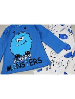 Pijama lux albastru
