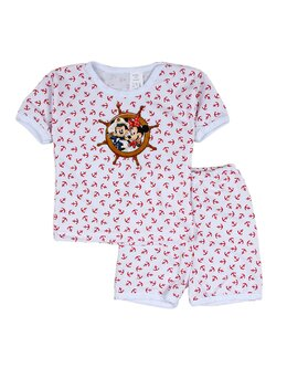 Pijama Minnie&Mickey rosu