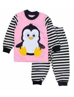 Pijama pinguin roz