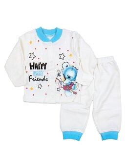 Pijama ursulet bleu-alb