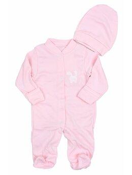 Salopeta baby iepuras roz