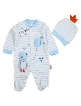 Salopeta boy bleu 0-3 luni cod: F1076