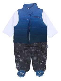 Salopeta Fashion cu vesta albastra
