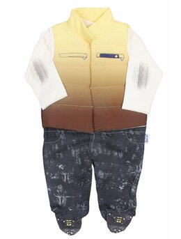 Salopeta Fashion cu vesta galben