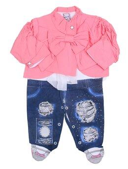 Salopeta fashion fetite jacheta roz