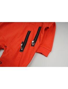 Salopeta fermoare aplicate model portocaliu pal