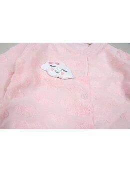 Salopetica norisori material roz deschis