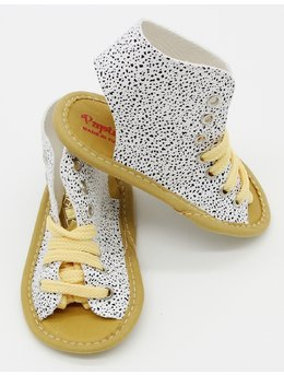 Sandale albe cu picatele