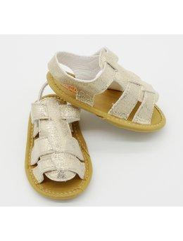 Sandale lejere fetita crem cu sclipici