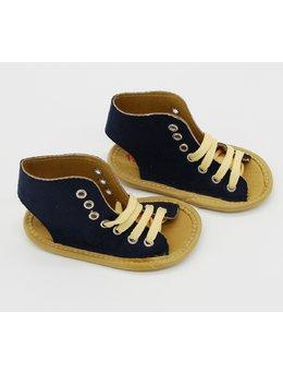Sandale negre cu siret