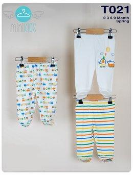 Set 3 pantalonasi elefantul colorat