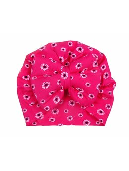 Turban ciclam cu floricele model 105