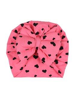 Turban coral cu inimi mari model 29