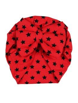 Turban rosu cu stele mari model 48
