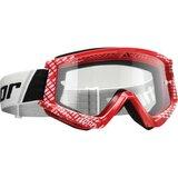 Ochelari moto Cross-Enduro THOR COMBAT CAP RED/WHITE