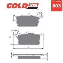 Placute frana spate 003 K5-LX GOLDFREN